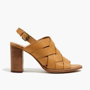 Madewell Brown Open Toe Cindy Sandal Heels